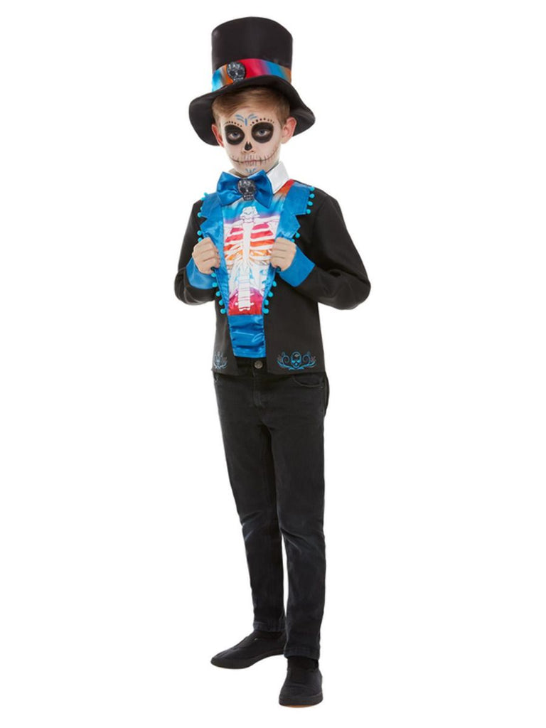 Day of the Dead Blue Outfit Boy