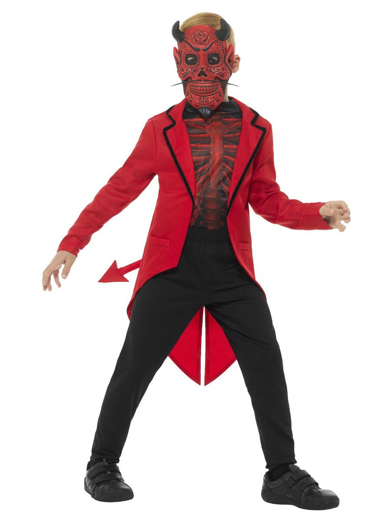Day of the Dead Devil Costume Boys