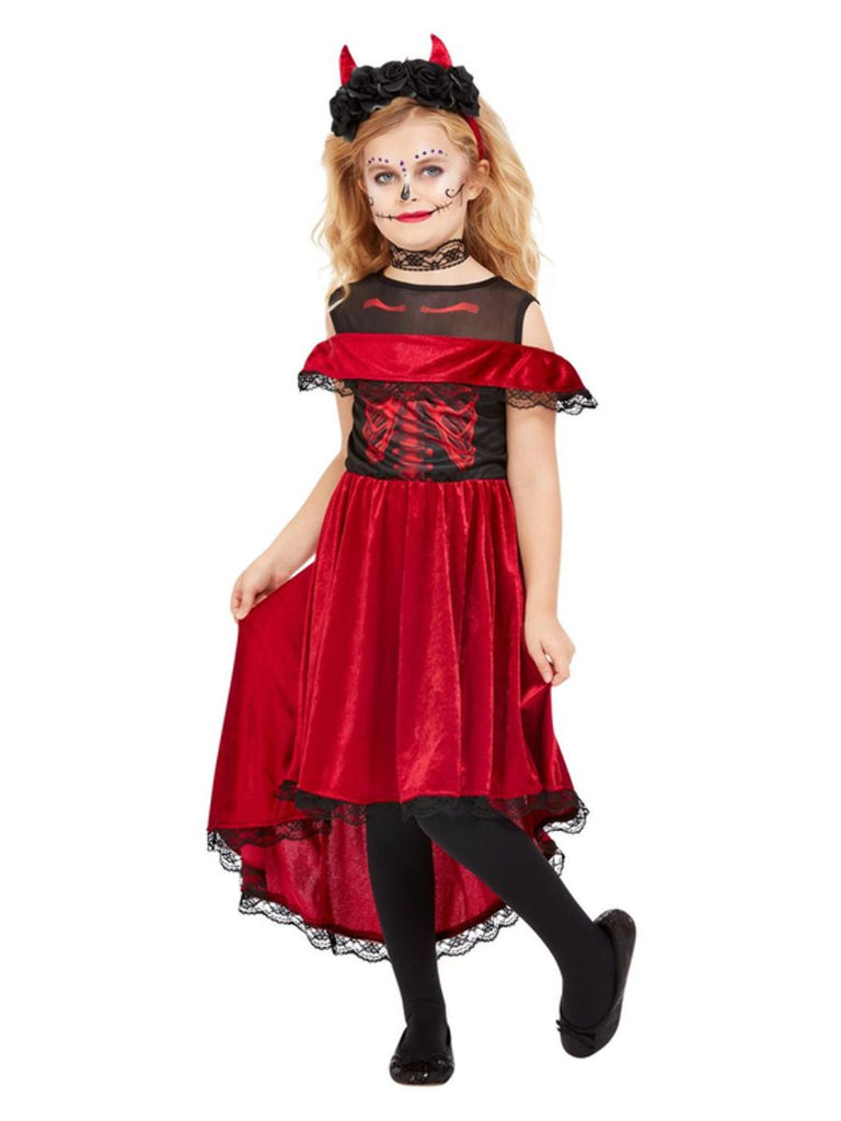 Day of the Dead Devil Costume Girls