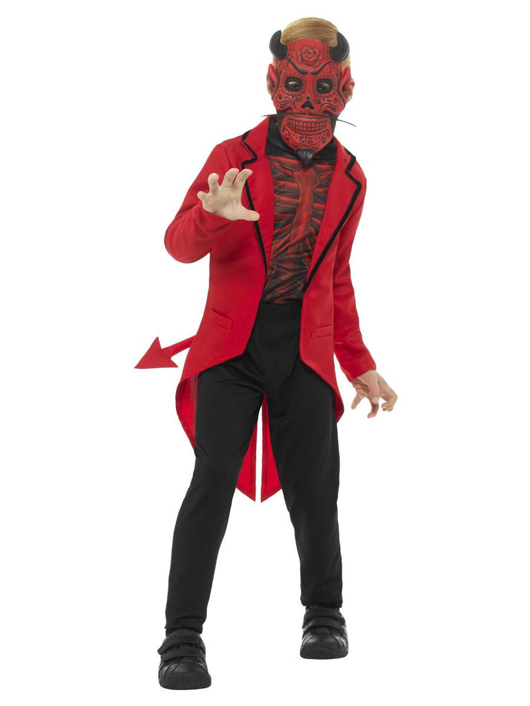 Day of the Dead Devil Halloween Costume Boys