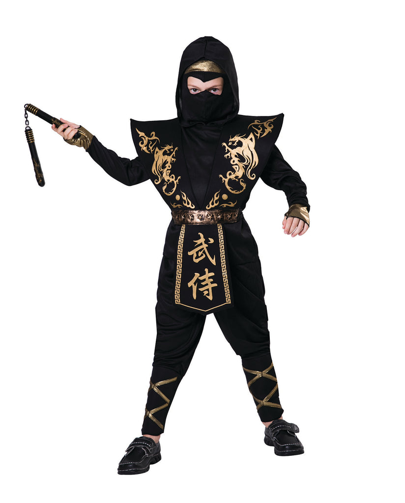 Deluxe Gold and Black Ninja Costume