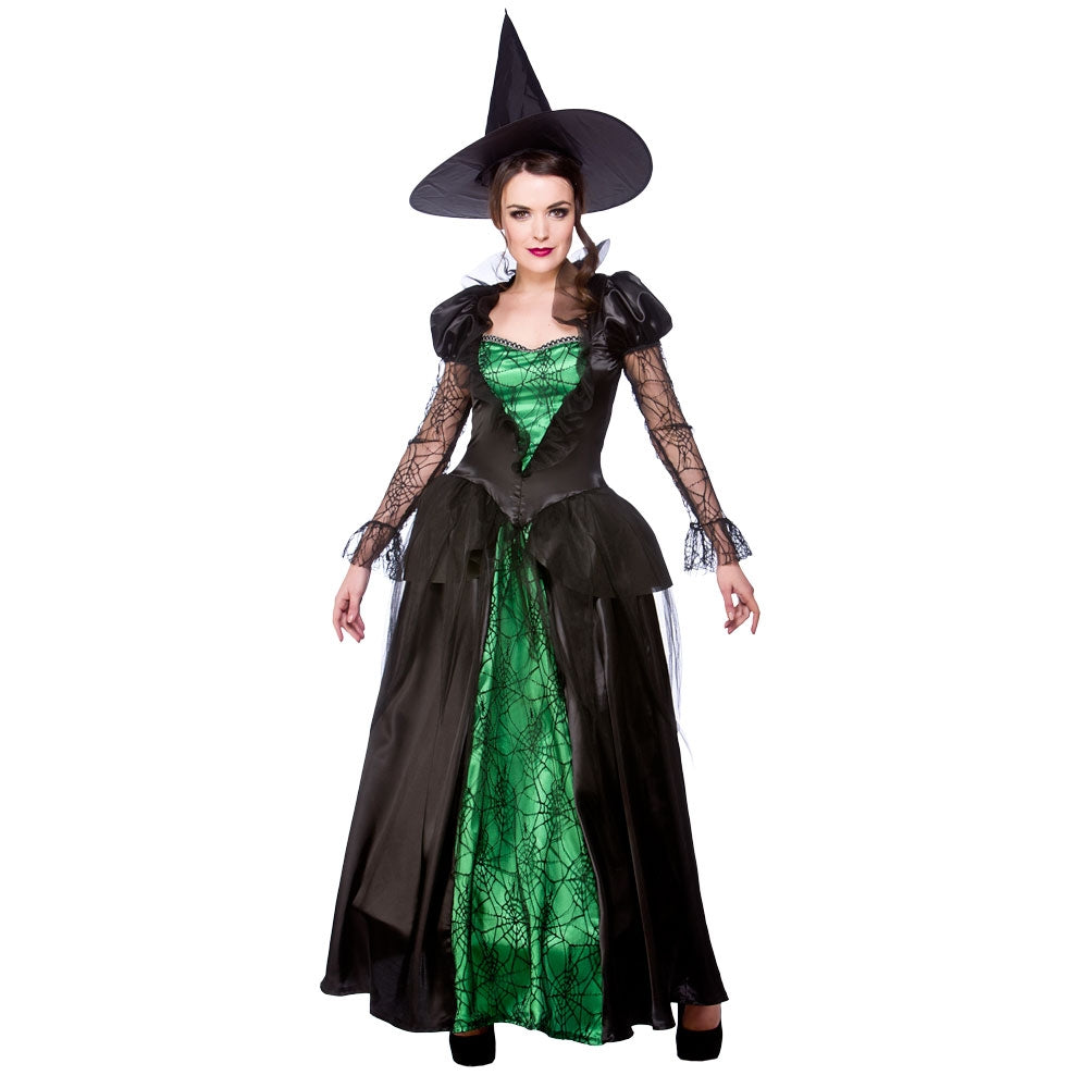 Ladies Deluxe Emerald Witch Costume Adult