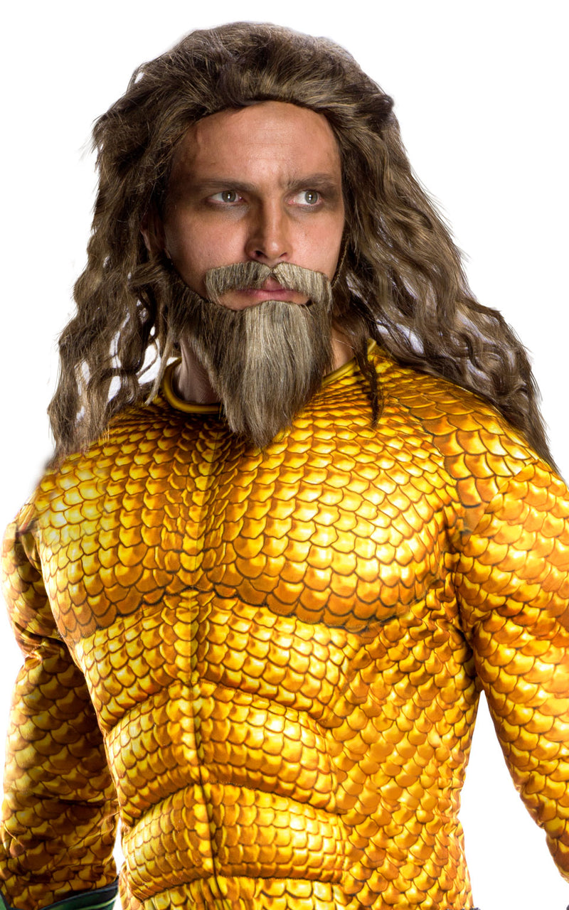 Deluxe Aquaman fancy dress outfit.