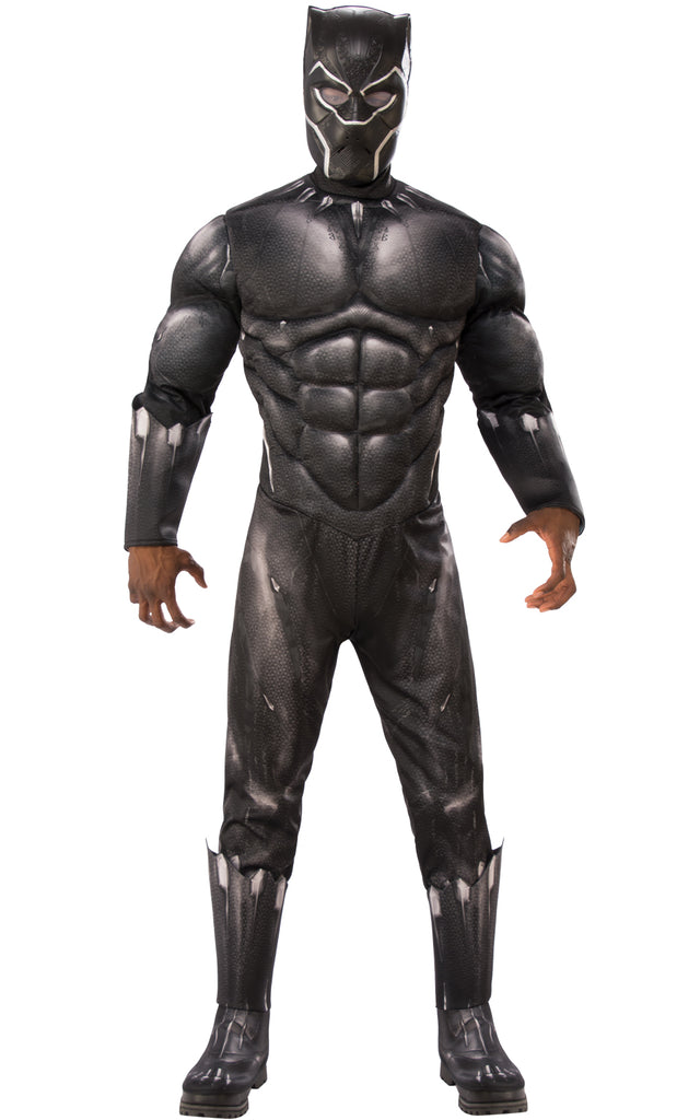Adult Deluxe Black Panther Muscle Costume for men.