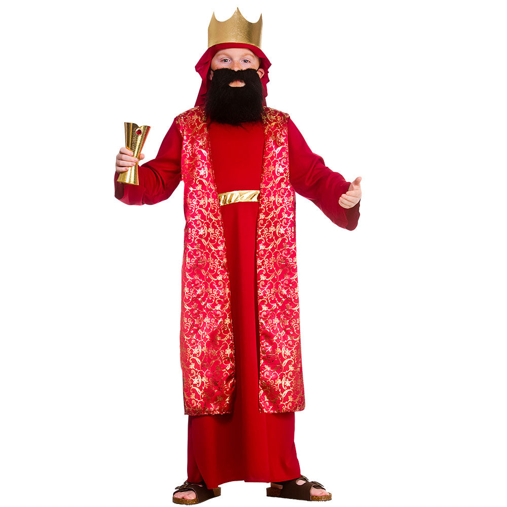 Deluxe Boys Red Wise Man Balthazar Nativity Play Costume