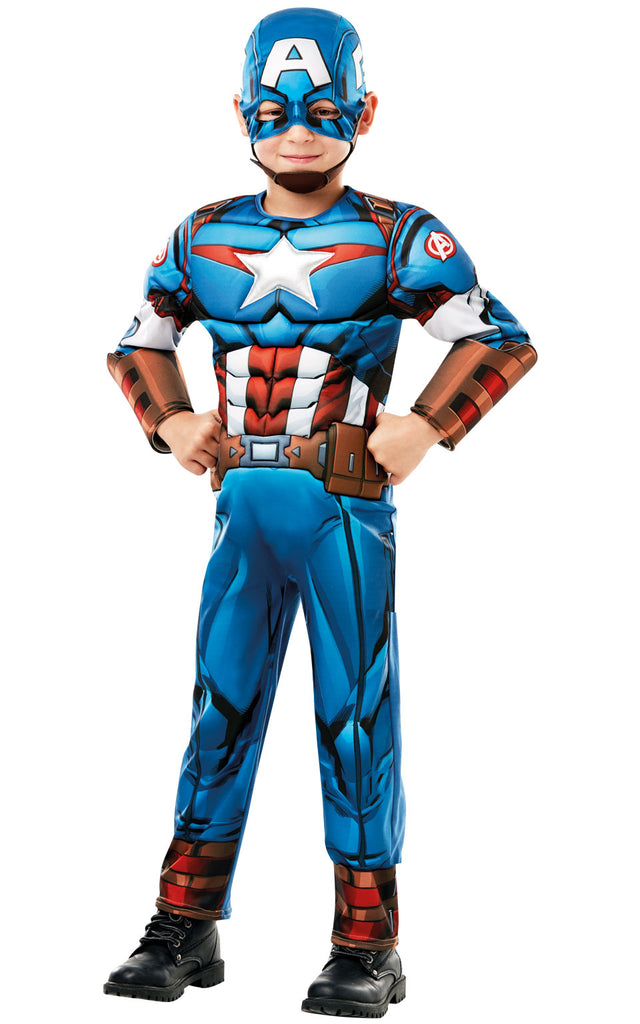 Deluxe Captain America Boys Costume
