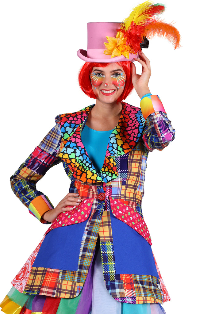 Deluxe Clown Carnival Jacket Ladies