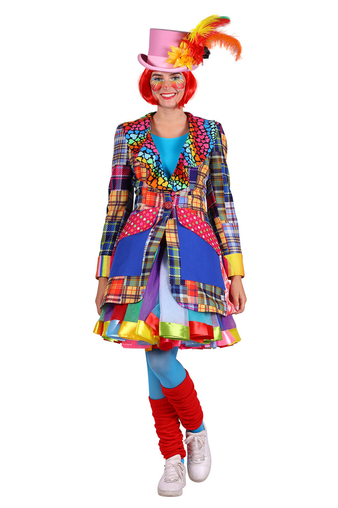 Deluxe Clown Carnival costume Jacket for women.
