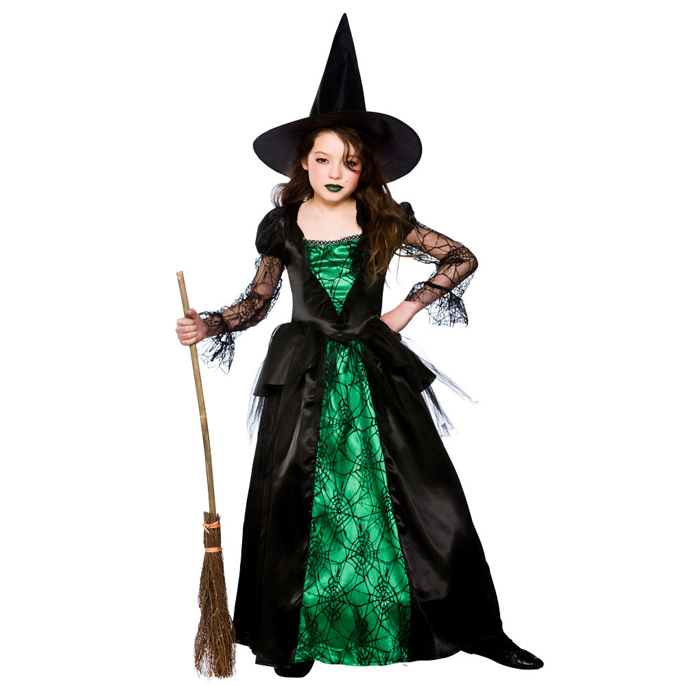 Children's Deluxe Emerald Witch Girls Costume