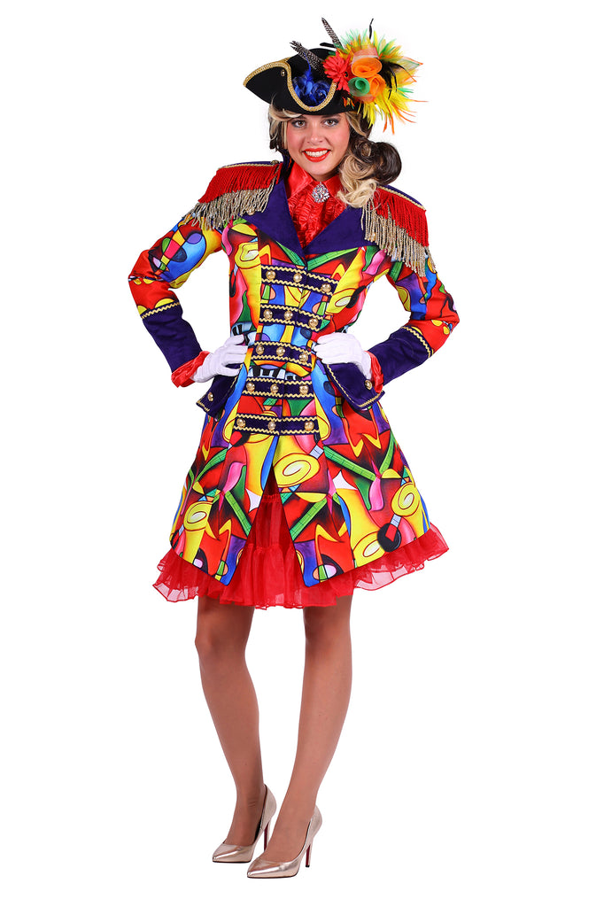 Deluxe Music Celebration carnival jacket ladies outfit.