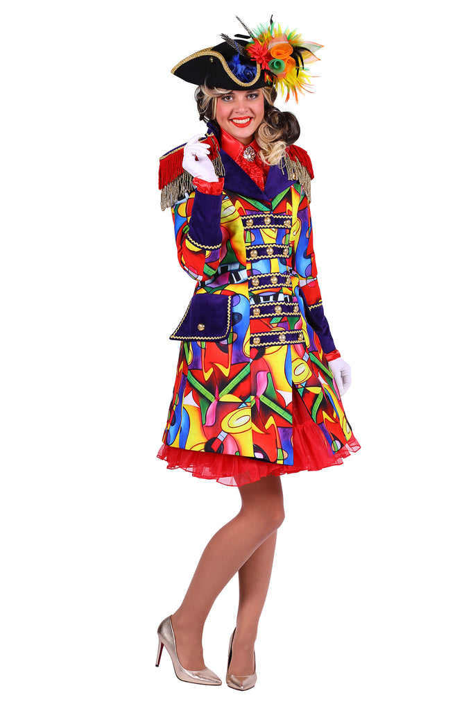 Deluxe Music Celebration Carnival jacket ladies costume.