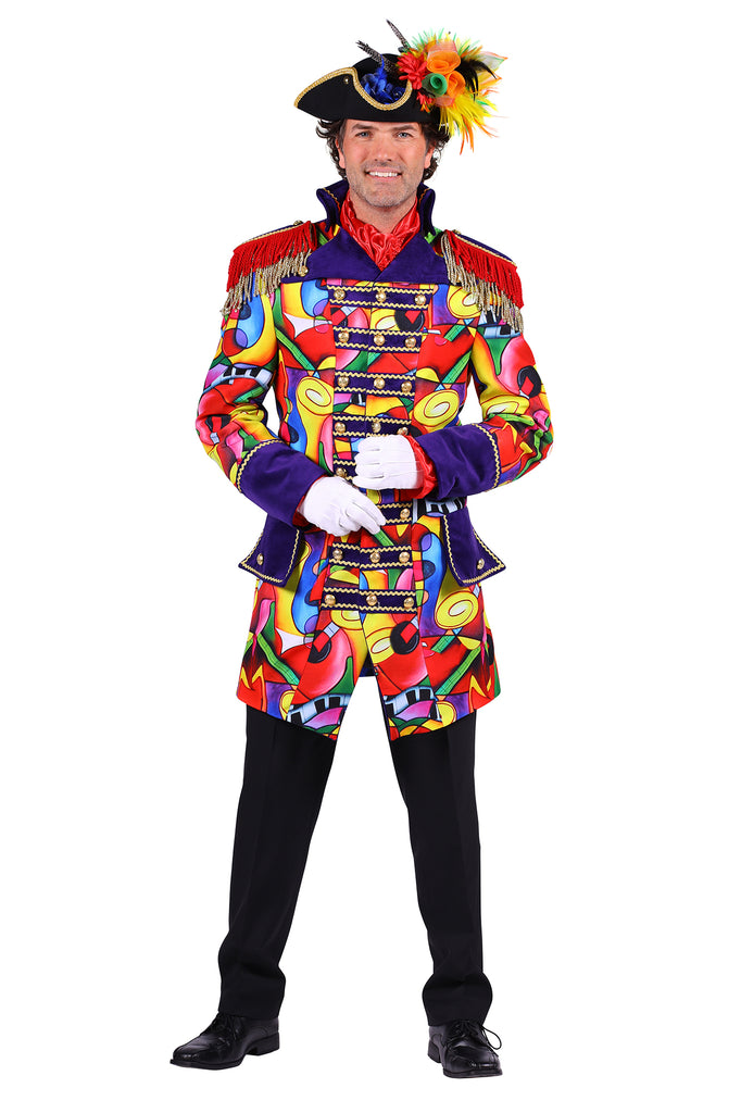 Men's deluxe Music Celebration Carnival jacket fancy dress costume.