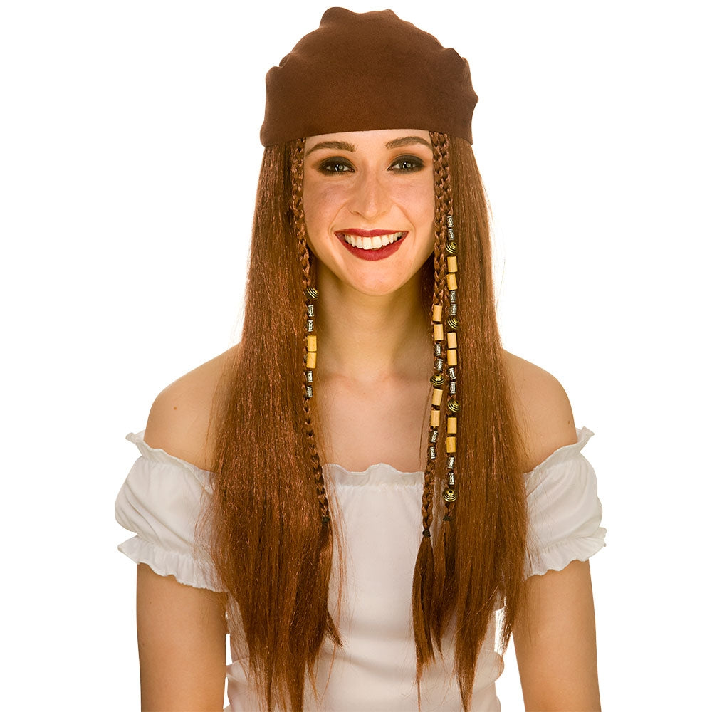 Deluxe Pirate Wig for Ladies
