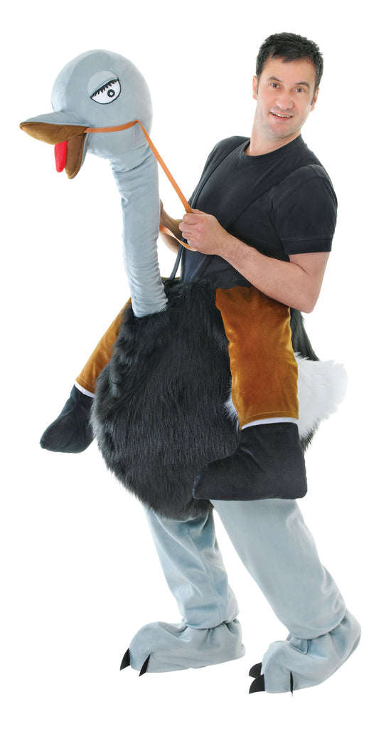 Deluxe Step In Ostrich Funny Fancy Dress Costume