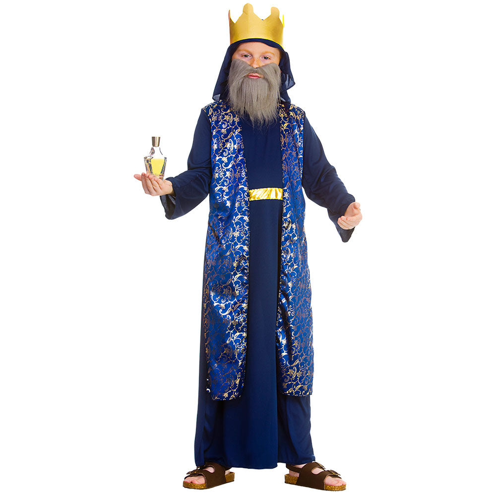 Deluxe Boys Wise Man Caspar Blue Costume for Christmas nativity play