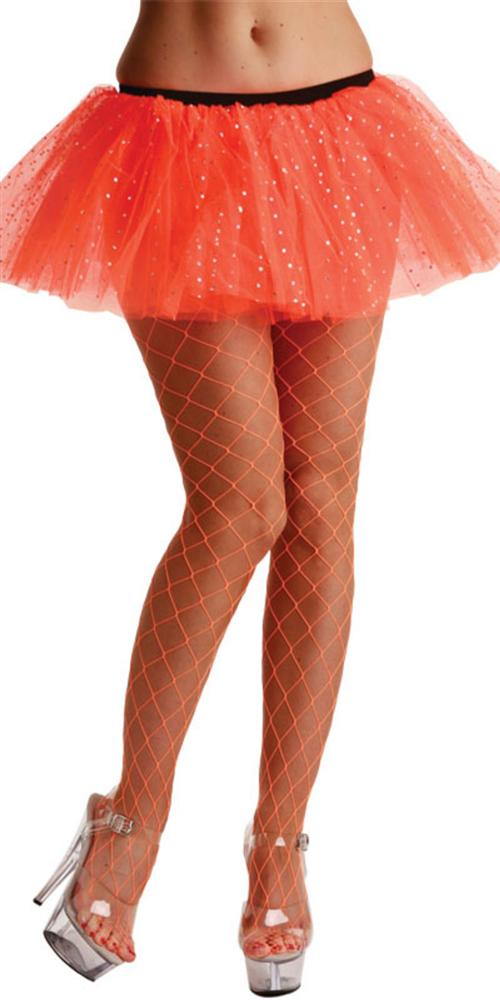Diamond Tights Neon Orange