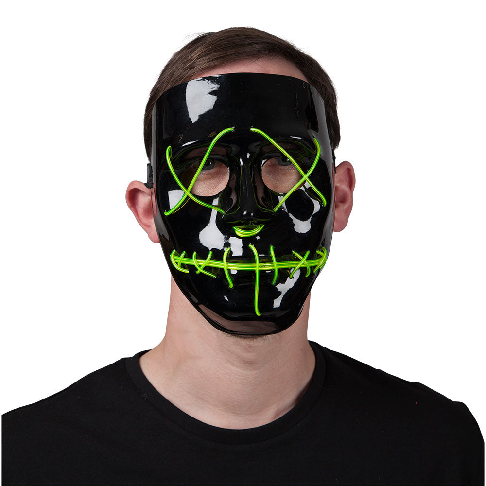 EL Light Up Mask Green