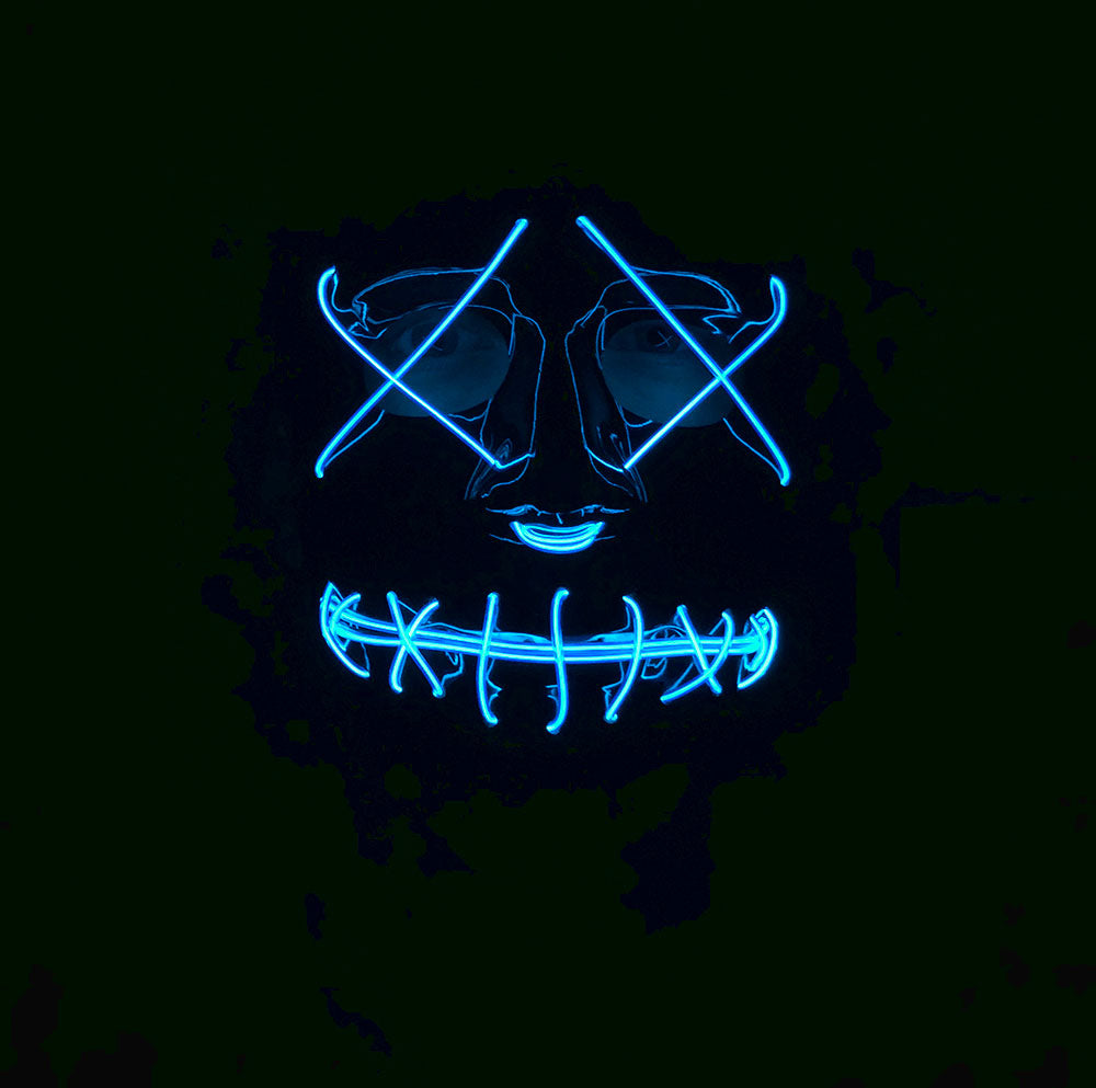 EL Light Up Mask with Blue LED Lights