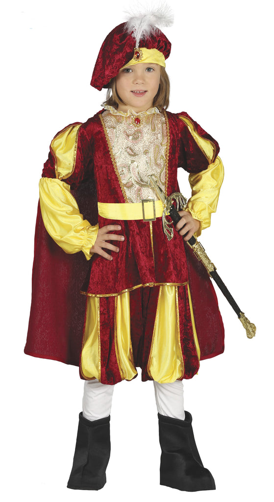 Children's Elegant Tudor Prince Costume for Boys