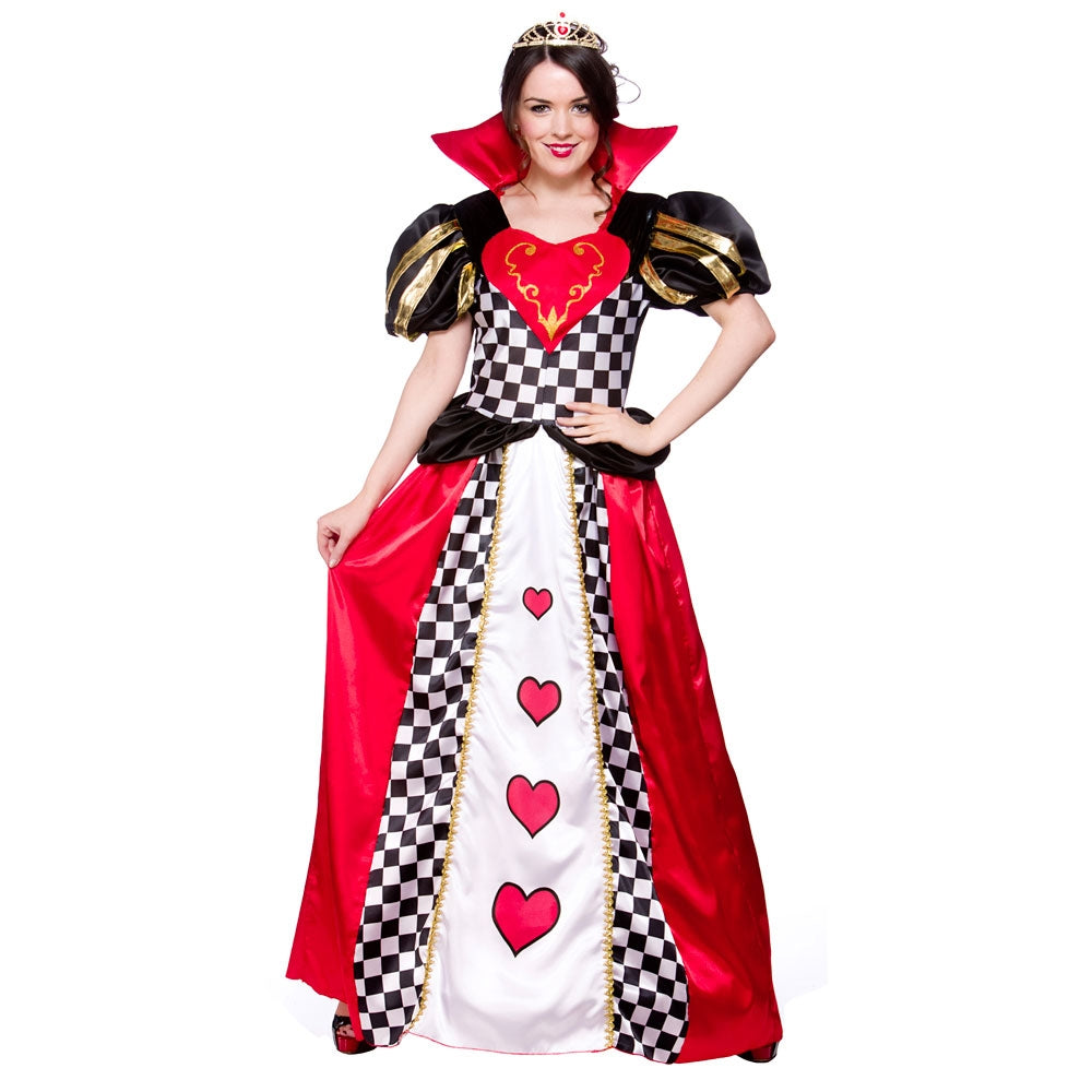 Fairytale Queen of Hearts adult fancy dress Costume