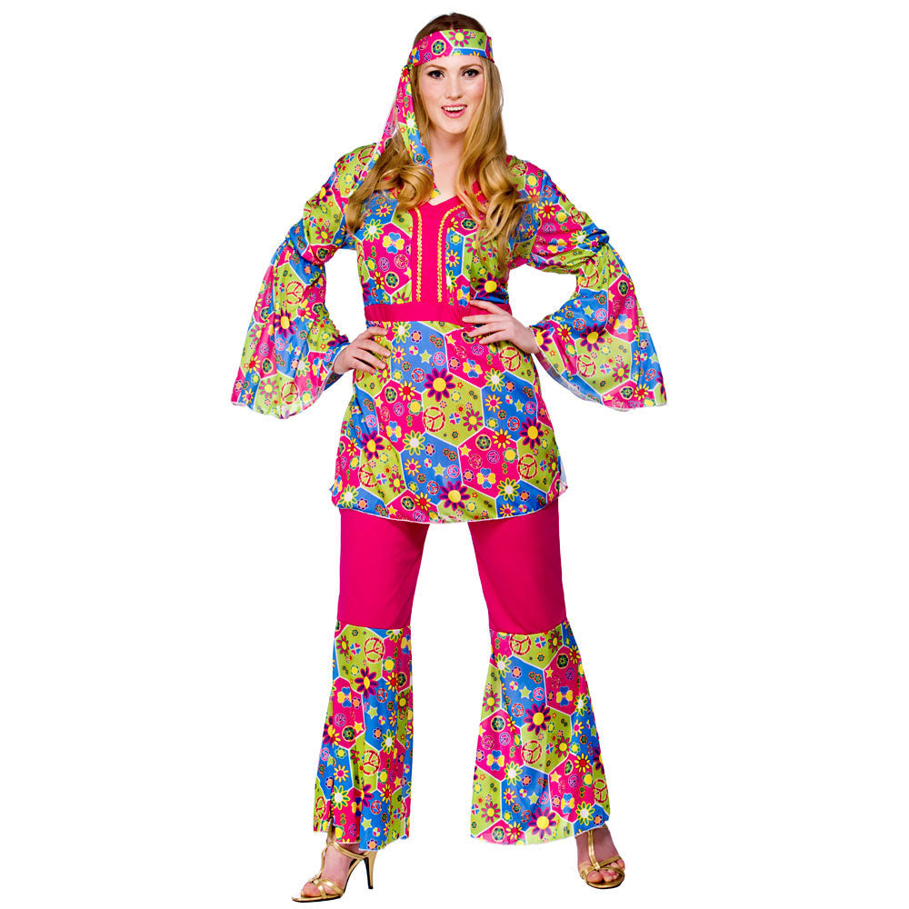 1960's Feelin Groovy Hippie outfit plus size.