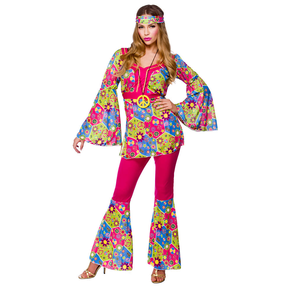 1960's Feelin Groovy Hippie Costume for women.