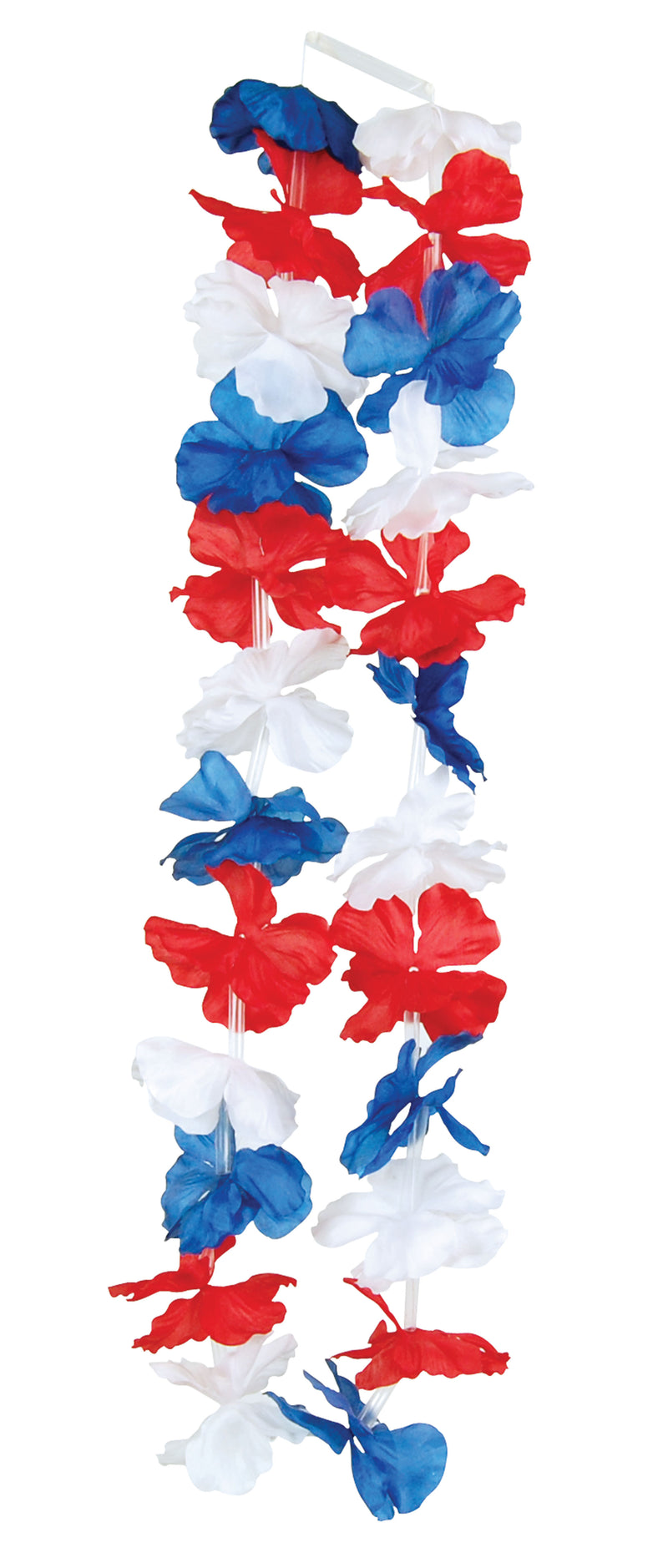 Flower Leis Red White Blue Hawaiian Lei