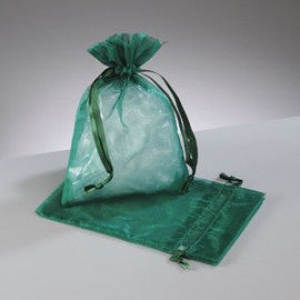 Forrest Green Organza Bags Medium