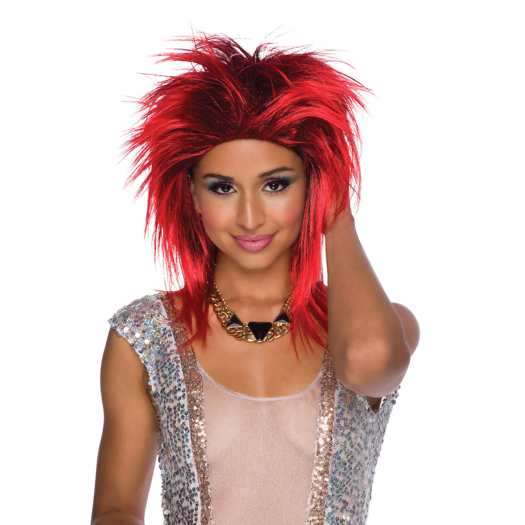 Black and Red Tina Turner fancy dress Wig