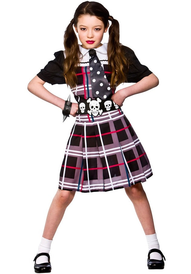 Freaky Schoolgirl Halloween Fancy Dress Costume