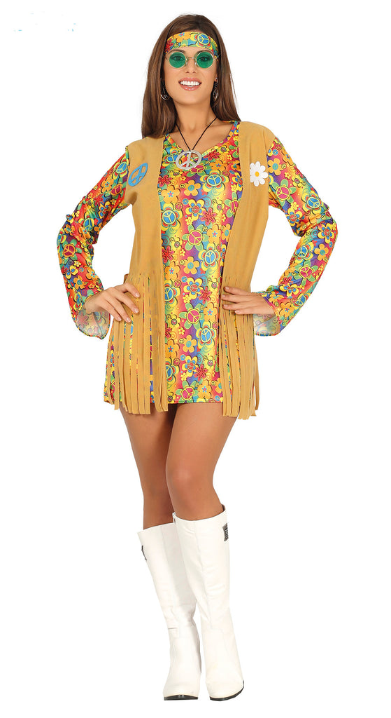 Free Spirit Hippie 1960's Costume for Adult women