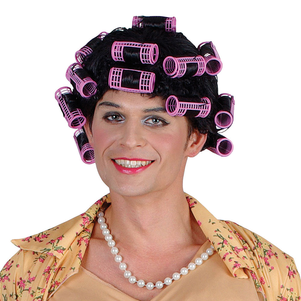 Funny Housewife Granny Wig