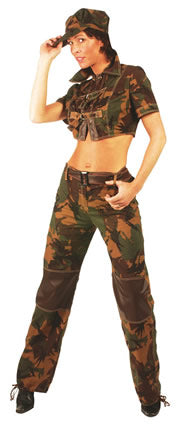 Ladies GI Jane Soldier Army Costume