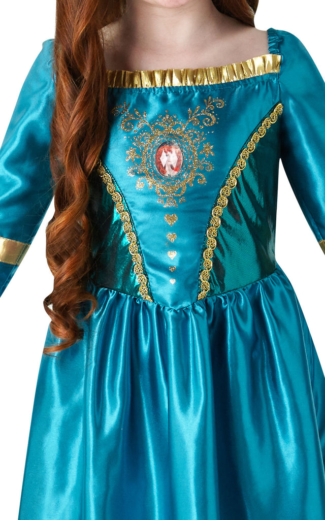 Girls Gem Princess Merida Brave Costume