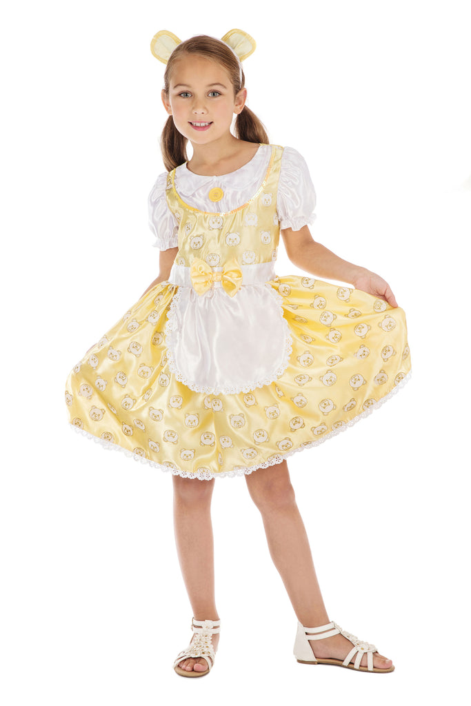 Girl's Goldilock's Dress Up Fairytale Costume