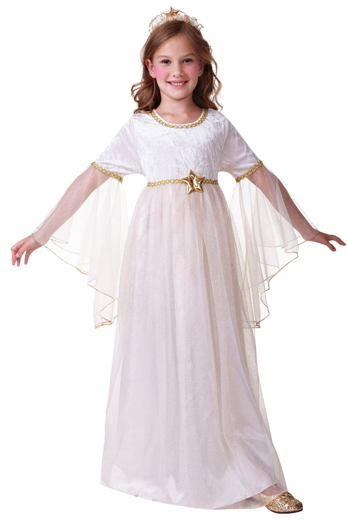 Girls Angel Nativity Christmas Fancy Dress Costume