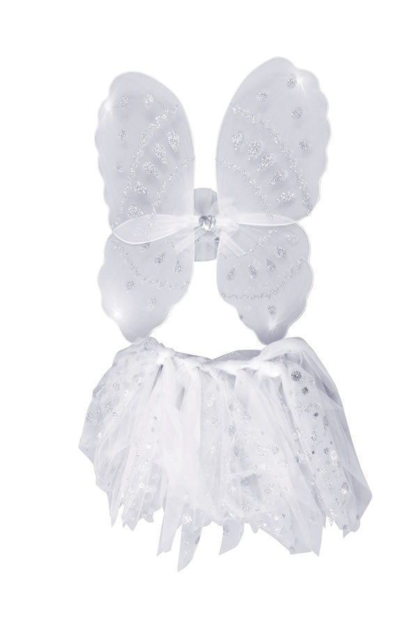 Angel Wings And Tutu Set Girls