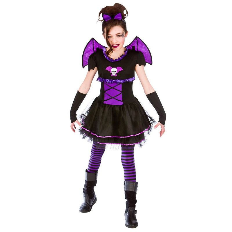 Girls Batty Ballerina Vampire Costume