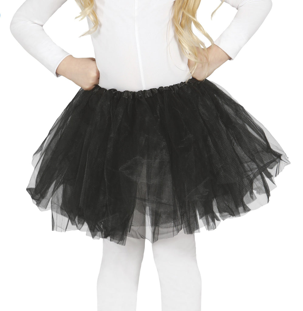 Girls Black Tulle Tutu Skirt for children.