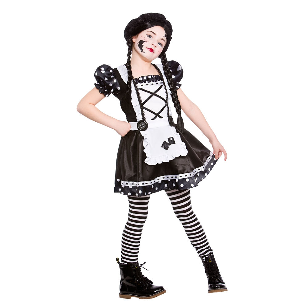 Girls Broken Doll Costume