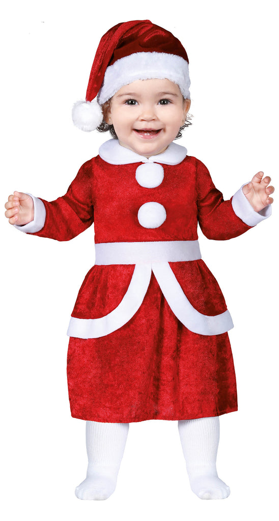 Girls Mrs Santa Toddler Costume