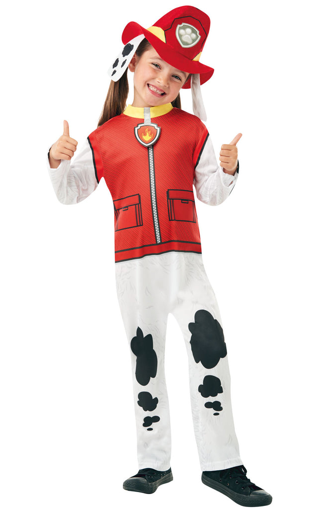 Girls Paw Patrol Marshall kids costume.