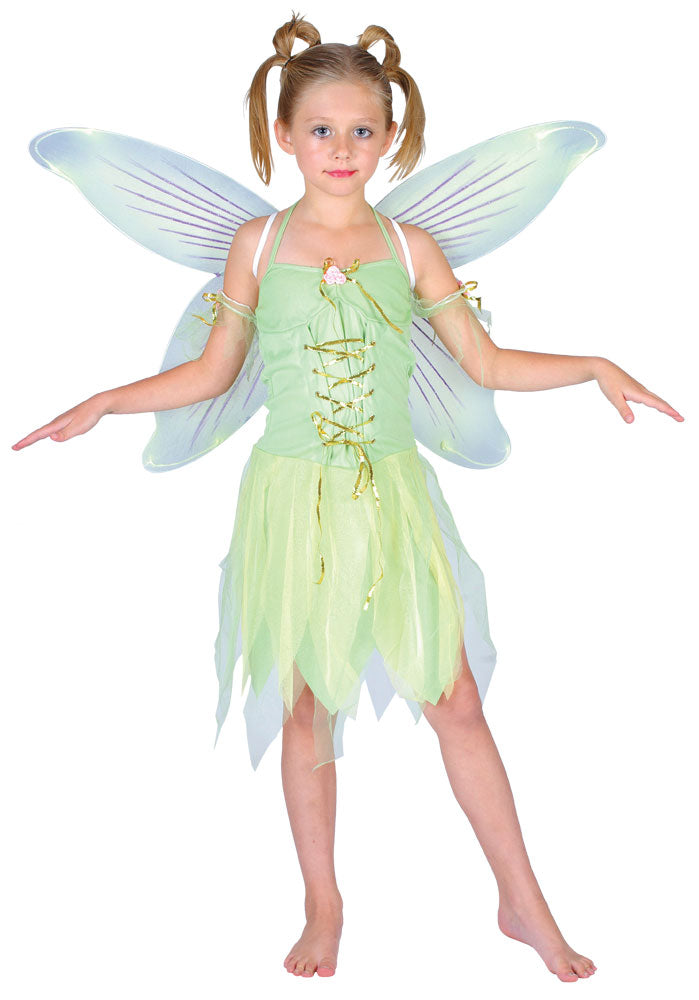 Girls Tinkerbell Neverland Fairy Costume