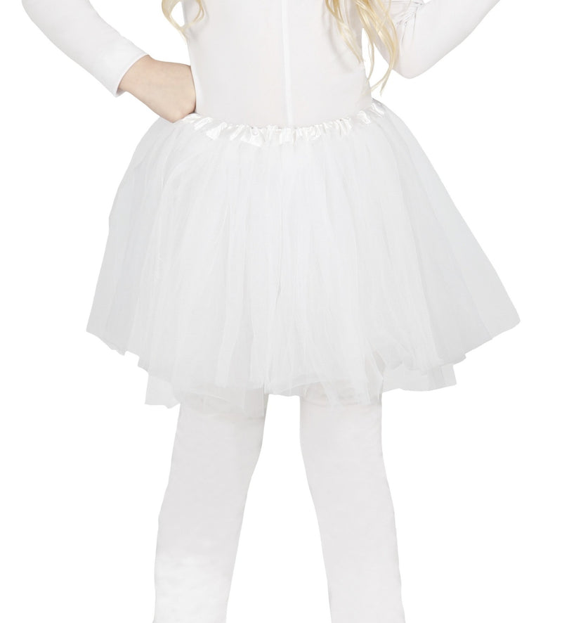 Children's Tulle Tutu Skirt White