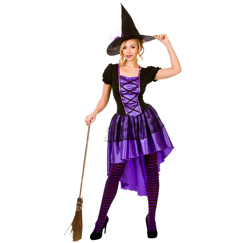 Adult Glamorous Witch fancy dress outfit