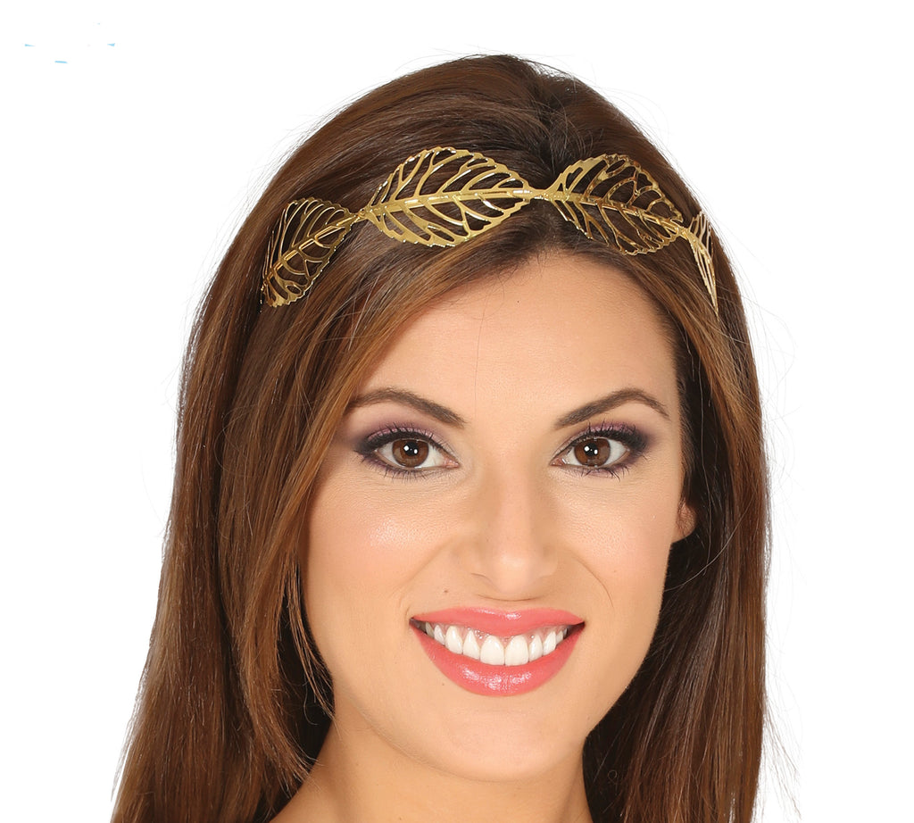 Gold Metal Leaf Tiara