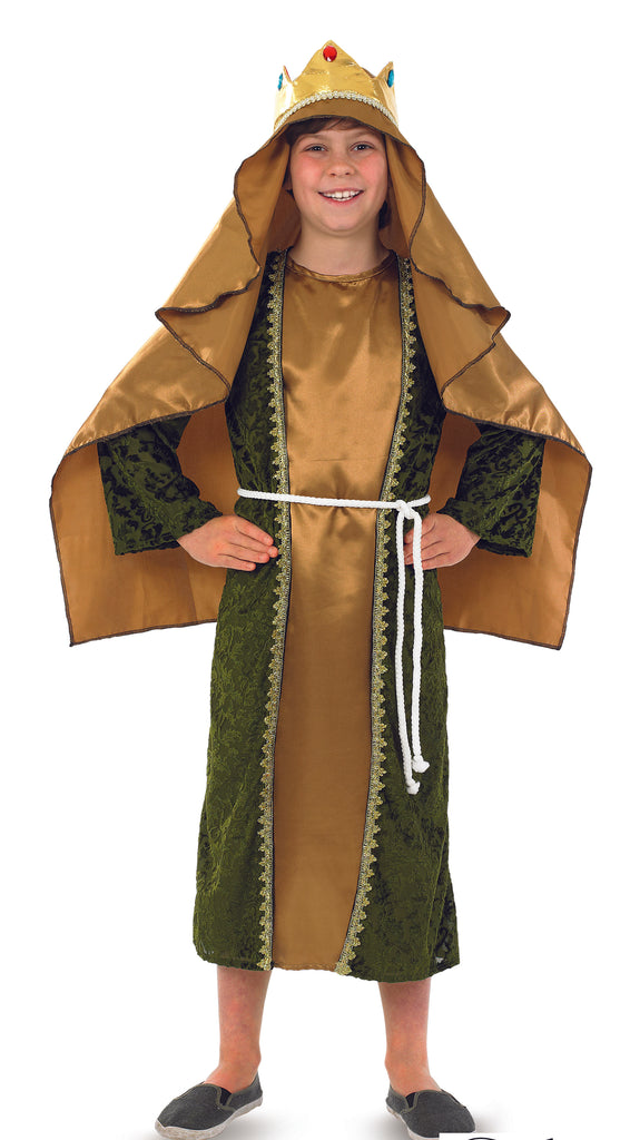 Gold Wise Man Melchior - Kids Nativity outfit.