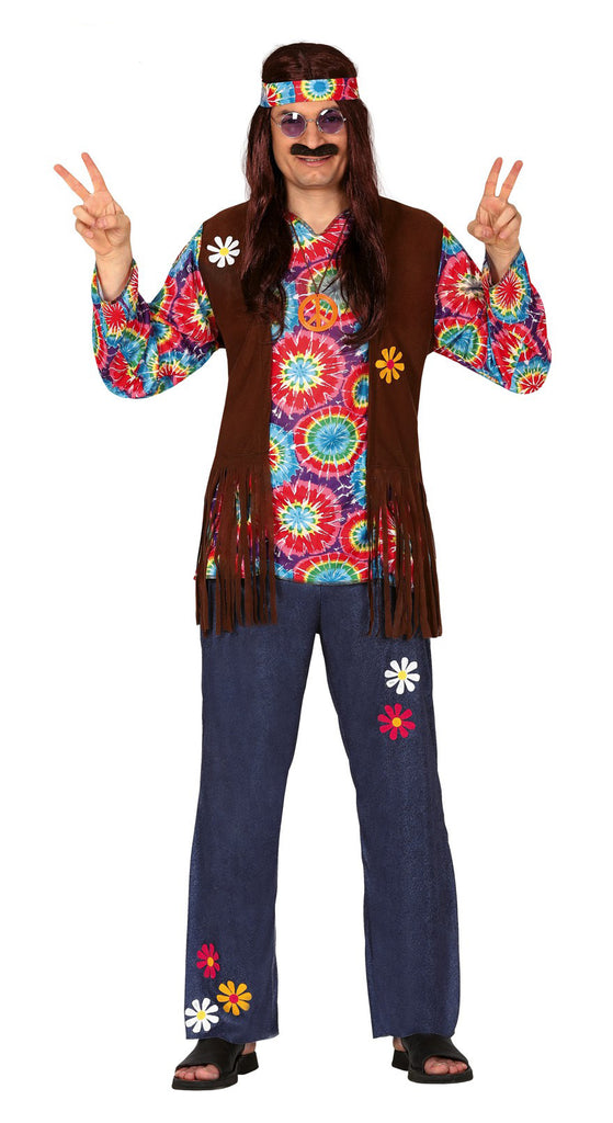 Good Vibes Hippie 1960's Costume Adult for men