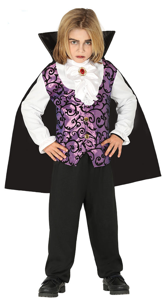 Child's Gothic Vampire Lilac boy Costume