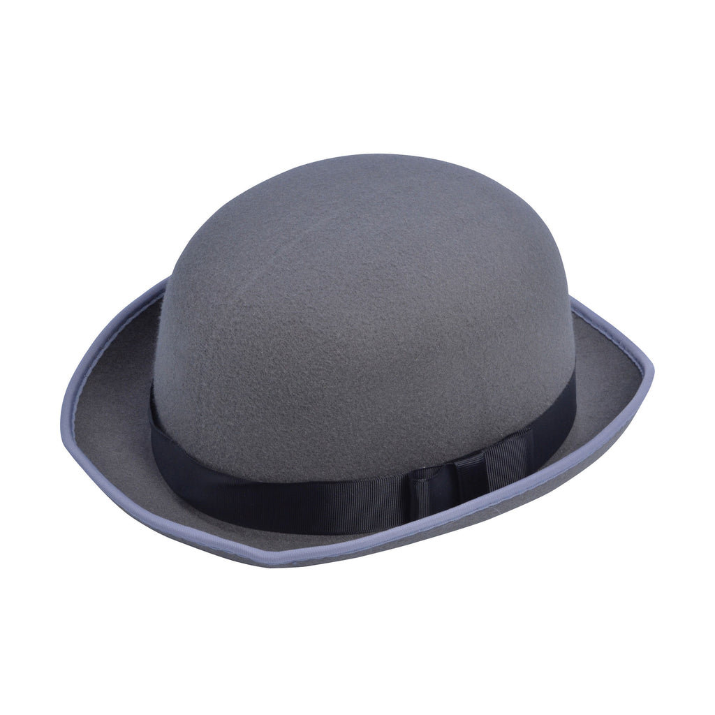 Grey Bowler or Derby Hat.